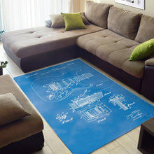 Load image into Gallery viewer, Fender Tremolo Sketch  Instrument Area Rug,  Living room and bedroom Rug,  Halloween Gift