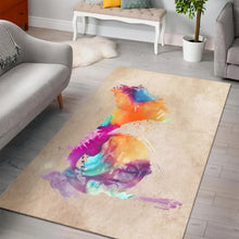 Load image into Gallery viewer, French Horn  Music Rug,  Bedroom,  Christmas Gift