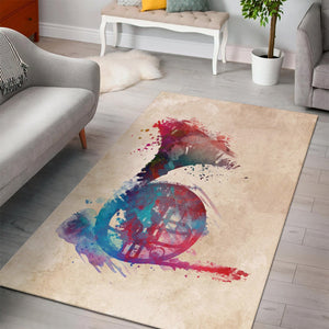French Horn  Printing Instrument Rug,  Kitchen Rug,  Floor Decor