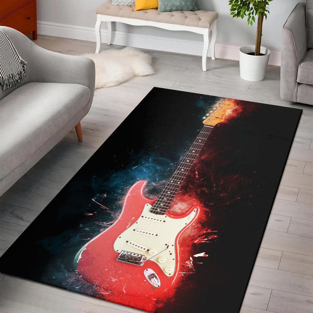 Gary Moore  Instrument Area Rug,  Living room and bedroom Rug, Home Decor