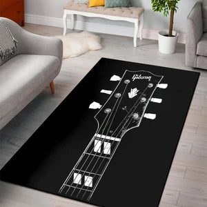 Gibson Es Guitar S  Area Rugs,  Bedroom, Home Decor