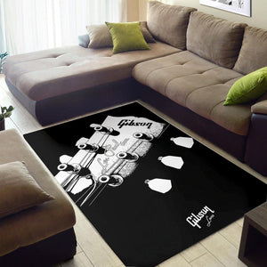 Gibson Les Paul Headstock  Printing Instrument Rug,  Bedroom, Home Decor