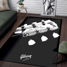 Load image into Gallery viewer, Gibson Les Paul Headstock  Printing Instrument Rug,  Bedroom, Home Decor