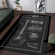 Load image into Gallery viewer, Gibson Les Paul Patent  Instrument Area Rug,  Living room and bedroom Rug,  Christmas Gift