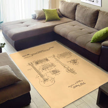 Load image into Gallery viewer, Gibson Les Paul  Printing Instrument Rug, Living Room Rug,  Christmas Gift