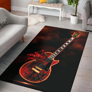Gibson Les Paul  Rug,  Living room and bedroom Rug,  Halloween Gift