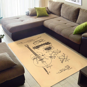 Gibson Pickup Sketch  Instrument Area Rug,  Bedroom,  Halloween Gift