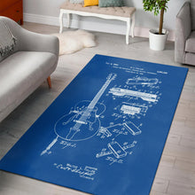 Load image into Gallery viewer, Gibson Pickup Sketch  Music Rug, Living Room Rug,  Family Decor