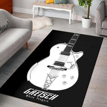 Load image into Gallery viewer, Gretsch White Penguin  Music Rug,  Bedroom, Home Decor