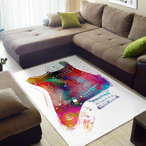 Guitar  Area Rugs,  Kitchen Rug,  Family Decor