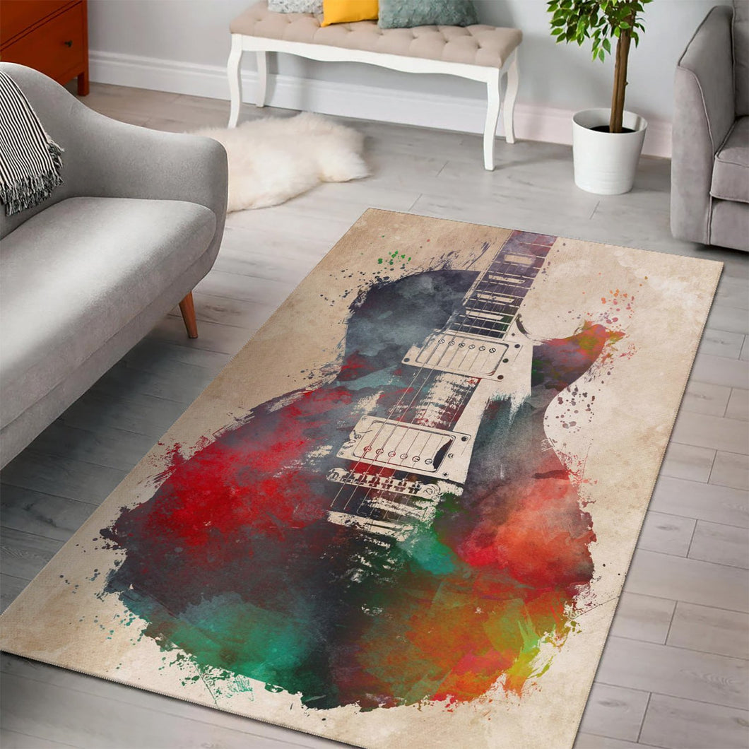 Guitar  Area Rugs,  Living room and bedroom Rug,  Family Decor
