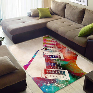 Guitar  Area Rugs,  Living room and bedroom Rug,  Floor Decor