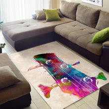 Load image into Gallery viewer, Guitar Art  Instrument Area Rug,  Gift for fans,  Halloween Gift