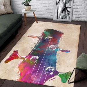 Guitar Art  Instrument Area Rug,  Gift for fans,  Halloween Gift