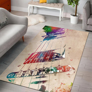 Guitar Art  Instrument Area Rug,  Living room and bedroom Rug,  Family Decor