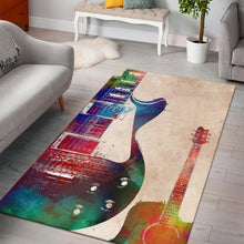Load image into Gallery viewer, Guitar Art  Music Rug,  Gift for fans,  Halloween Gift