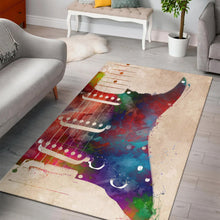 Load image into Gallery viewer, Guitar Art  Music Rug,  Kitchen Rug,  Floor Decor
