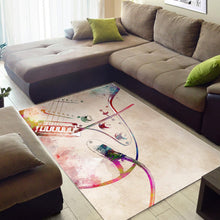 Load image into Gallery viewer, Guitar Art  Music Rug, Living Room Rug,  Christmas Gift