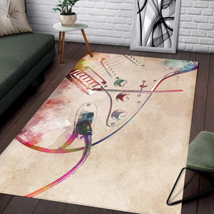 Guitar Art  Music Rug, Living Room Rug,  Christmas Gift