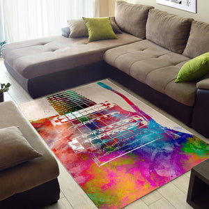 Guitar Art  Printing Instrument Rug,  Bedroom,  Halloween Gift