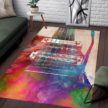 Load image into Gallery viewer, Guitar Art  Printing Instrument Rug,  Bedroom,  Halloween Gift