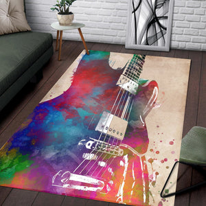 Guitar Art  Printing Instrument Rug,  Gift for fans,  Halloween Gift