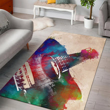 Load image into Gallery viewer, Guitar Art  Rug,  Living room and bedroom Rug,  Floor Decor