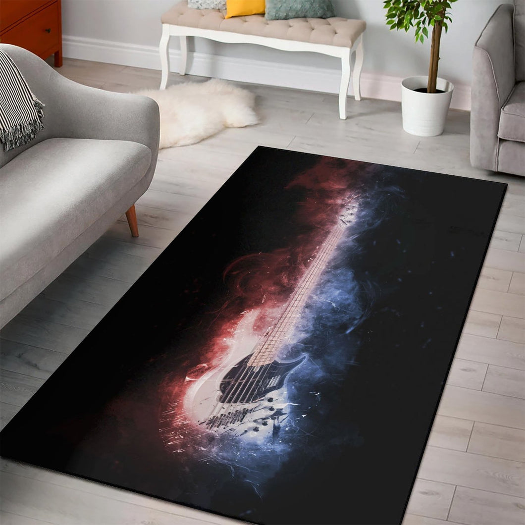 Guitar Bass  Music Rug,  Gift for fans,  Christmas Gift