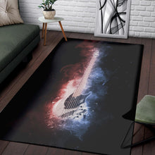 Load image into Gallery viewer, Guitar Bass  Music Rug,  Gift for fans,  Christmas Gift