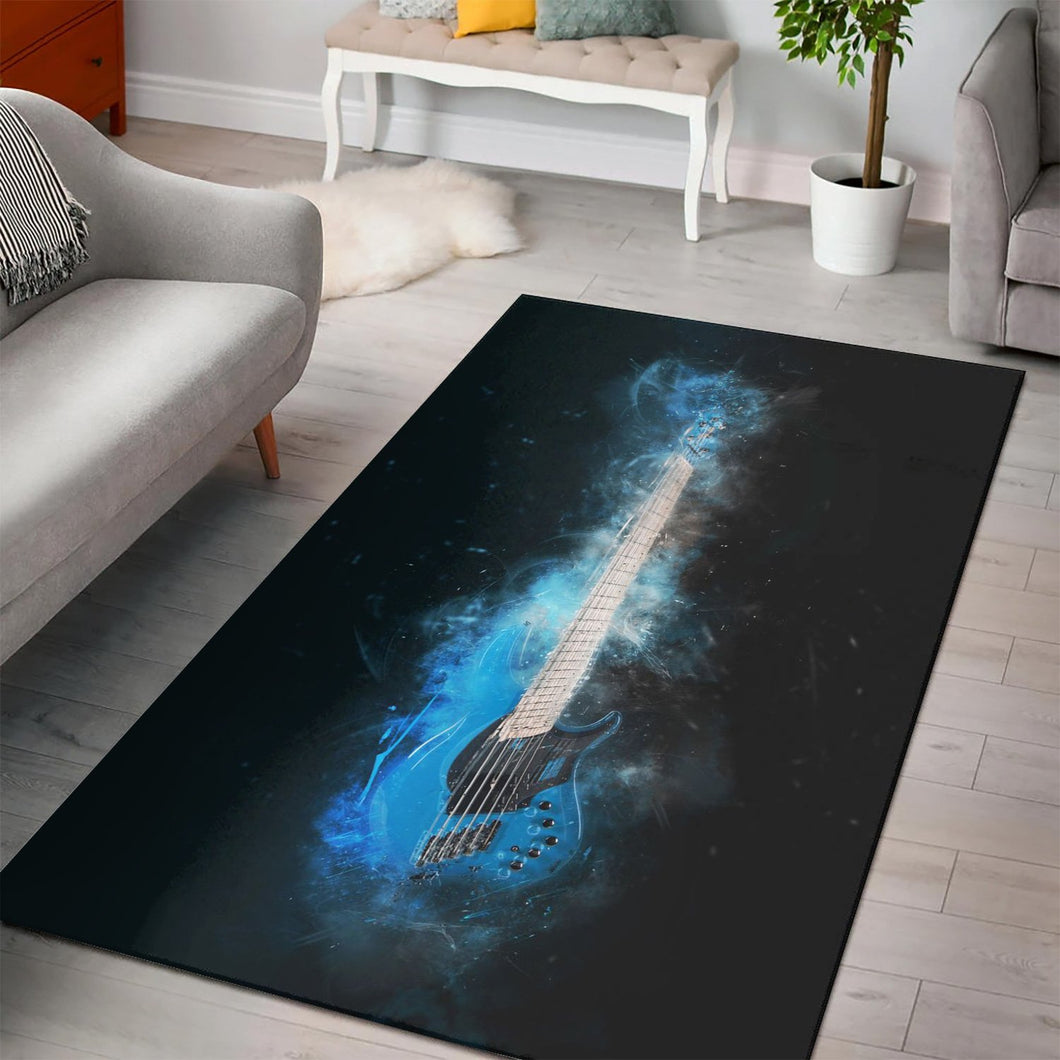 Guitar Bass  Rug,  Kitchen Rug, Home Decor