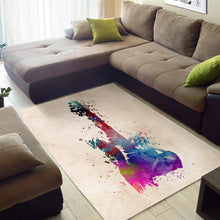 Load image into Gallery viewer, Guitar Blue Red  Instrument Area Rug,  Bedroom,  Family Decor
