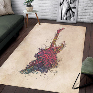 Guitar Electric  Area Rugs,  Gift for fans,  Halloween Gift