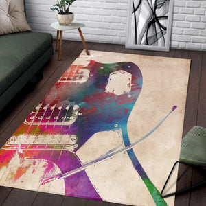Guitar  Instrument Area Rug,  Bedroom, Home Decor