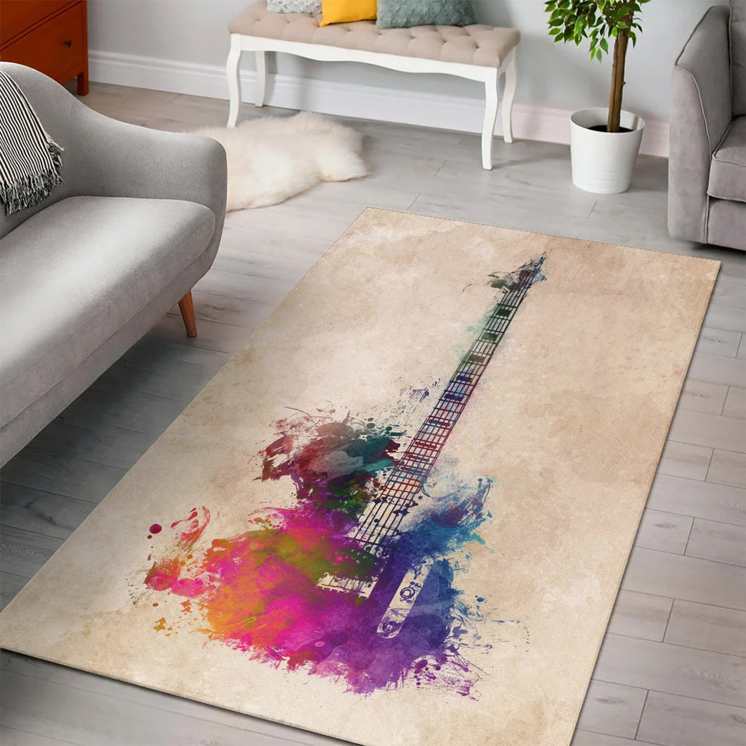 Guitar  Instrument Area Rug,  Gift for fans, Home Decor