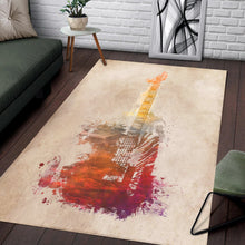 Load image into Gallery viewer, Guitar  Instrument Area Rug, Living Room Rug,  Family Decor