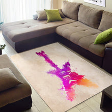 Load image into Gallery viewer, Guitar  Instrument Area Rug, Living Room Rug,  Floor Decor
