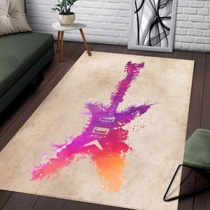 Guitar  Instrument Area Rug, Living Room Rug,  Floor Decor