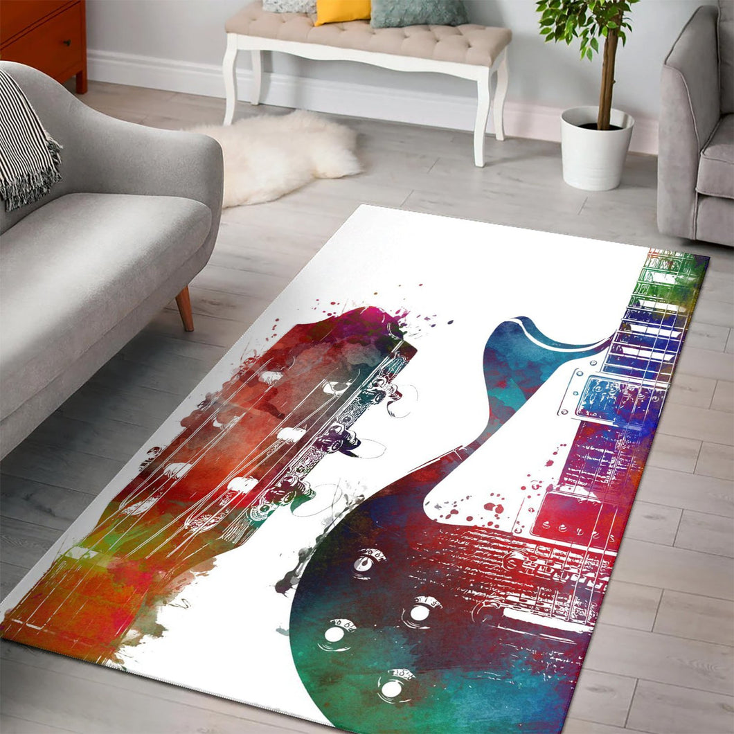 Guitar  Music Rug,  Living room and bedroom Rug, Home Decor