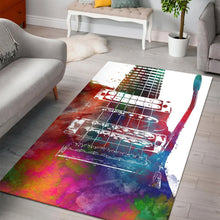 Load image into Gallery viewer, Guitar  Music Rug, Living Room Rug,  Halloween Gift