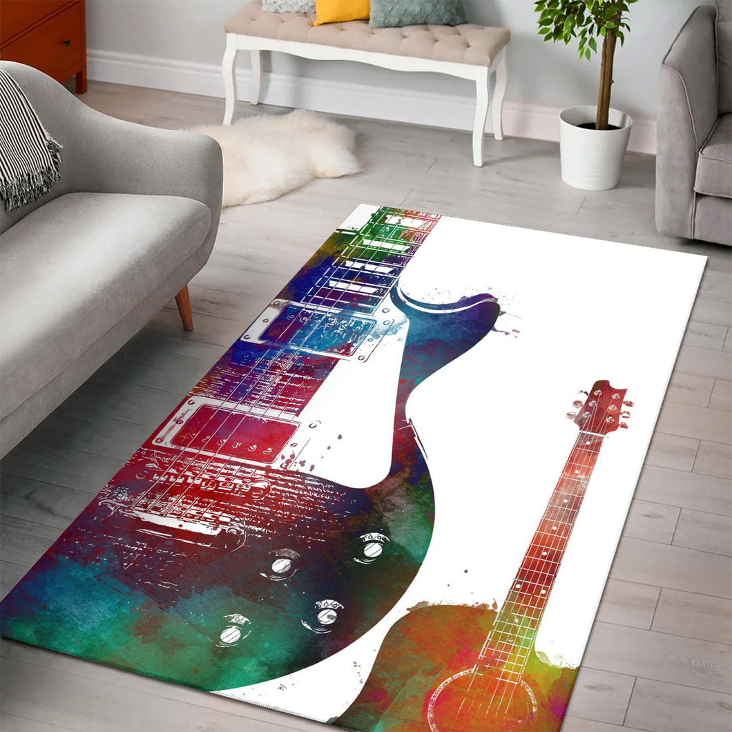 Guitar  Music Rug, Living Room Rug, Home Decor