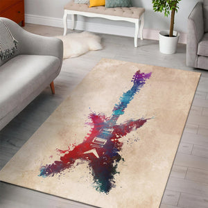 Guitar  Printing Instrument Rug,  Kitchen Rug, Home Decor