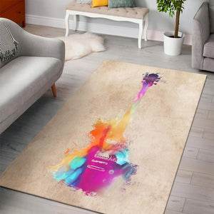 Guitar  Printing Instrument Rug,  Living room and bedroom Rug,  Family Decor