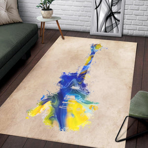 Guitar  Printing Instrument Rug,  Living room and bedroom Rug,  Halloween Gift