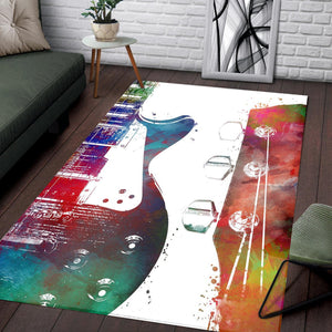 Guitar  Rug,  Living room and bedroom Rug,  Floor Decor
