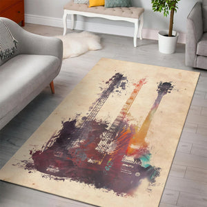 Guitars  Area Rugs,  Living room and bedroom Rug,  Christmas Gift