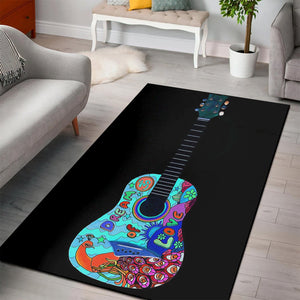 Guitars Classic  Area Rugs, Living Room Rug,  Family Decor