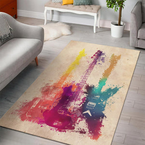 Guitars  Printing Instrument Rug,  Living room and bedroom Rug,  Floor Decor