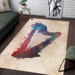 Harp  Instrument Area Rug,  Bedroom,  Floor Decor
