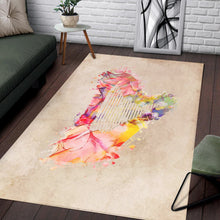 Load image into Gallery viewer, Harp Music Pastel Art  Area Rugs,  Kitchen Rug, Home Decor