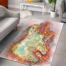 Load image into Gallery viewer, Hendrix Monterey Guitar  Rug,  Gift for fans,  Halloween Gift